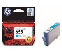 Картридж голубой струйный HP 655 оригинальный