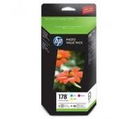 Комплект картриджей HP 178  + 85 листов фотобумаги,  оригинальный